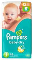 Pampers Baby DryTM 44-Count Size 1 Jumbo Pack Disposable Diapers