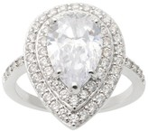 Journee Collection 2 CT. T.W. Pear-cut Cubic Zirconia Engagement Prong Set Ring in Sterling Silver - Silver