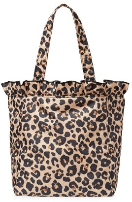 Loeffler Randall Large Roxana Leopard-Print Nylon Tote
