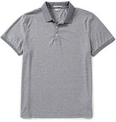 Calvin Klein Feeder Stripe Short-Sleeve Liquid Polo Shirt