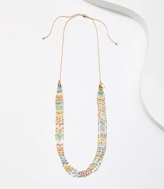 LOFT Mixed Beaded Multistrand Necklace