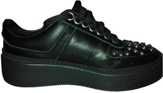 Neil Barrett Black Leather Trainers