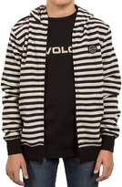 Volcom Boy's Kraystone Stripe Zip Hoodie