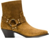 Paola D'arcano suede pointed boots