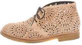 Alaia Laser Cut Ankle Boots