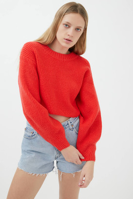 Urban Outfitters Sydney Crew Neck Cropped Sweater