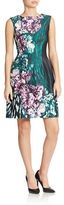 Vince Camuto Floral Print Fit and Flare Dress