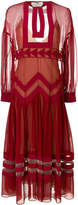Fendi long georgette dress