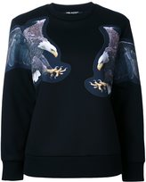 Neil Barrett eagle print sweatshirt