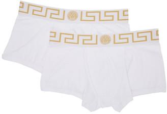 Versace Underwear Two-Pack White Medusa Low-Rise Boxer Briefs