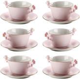 Villari - Teacup and Saucer - Set of 6 - Baby Rose