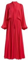 Giambattista Valli Tie-neck Gathered Chiffon Gown - Womens - Fuchsia