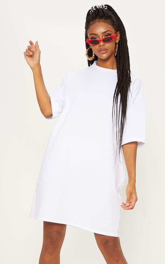 4800af5c83 PrettyLittleThing White T Shirt Day Dresses - ShopStyle UK