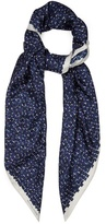 Bottega Veneta Brick-print silk-twill scarf