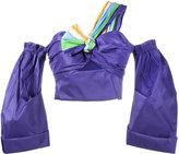 Peter Pilotto stripe strap bardot blouse - women - Silk/Polyester - 6