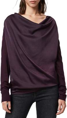 AllSaints Celeste Cowl Neck Merino Wool Sweater