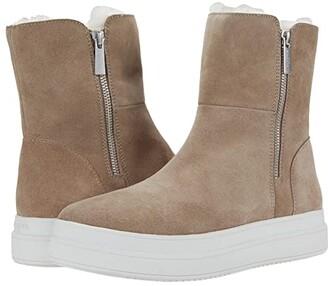 J/Slides Tristan (Taupe Suede) Women's Shoes