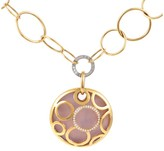 Faberge 18K Multi-Tone Gold Diamond & Enamel Pendant Necklace