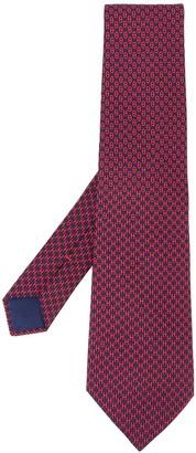Hermes 2000s Pre-Owned Logo Print Tie