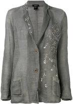 Avant Toi embroidered blazer - women - Linen/Flax/Cotton - S