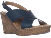 Bella Vita Lea-italy Slingback Wedge Sandals, Navy.