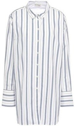 By Malene Birger Striped Cotton-poplin Shirt