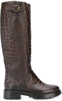 Strategia Croc Embossed Boots