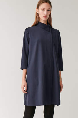 Cos WOOL-MIX DRESS WITH OFF-CENTRE COLLAR