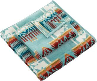 Pendleton Iconic Jacquard Towel - Chief Joseph Aqua - Bath Sheet