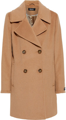 DKNY Double-breasted Wool-blend Felt Coat