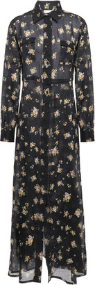 By Ti Mo Bytimo Floral-print Cotton-gauze Maxi Shirt Dress