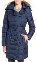 Sam Edelman Women's Faux Fur Trim Down Coat