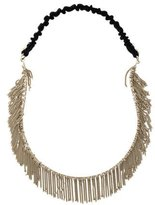 Maison Michel Fringe Chain-Link Headband w/ Tags