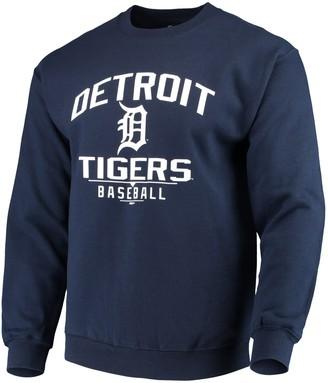 Stitches Men's Navy Detroit Tigers Holiday Pullover Crew Sweatshirt