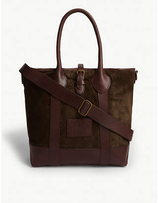 Polo Ralph Lauren Suede and leather tote