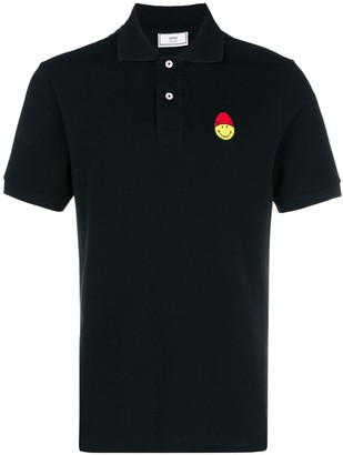 Ami Paris Polo Shirt Smiley Patch