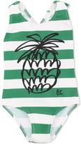 Bobo Choses Pineapple striped swimsuit