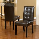 Christopher Knight Home Roland Brown Bonded Leather Dining Chairs (Set of 2)
