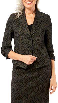 Peace of Cloth Parker Ruched Cheetah-Print Jacket