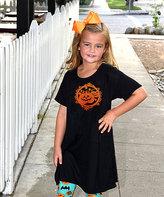 Beary Basics Black & Orange Pumpkin Tunic Dress - Toddler & Girls
