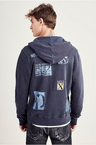 True Religion Patched Zip Mens Hoodie