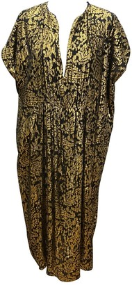 Masscob Metallic Silk Dress for Women