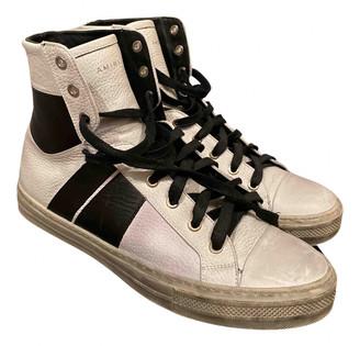 Amiri White Leather Boots
