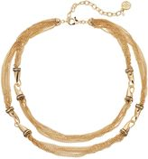 Dana Buchman Chain Link Double Strand Station Necklace