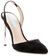 Betsey Johnson Leona Rhinestone Slingback Sandal