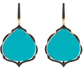 Latelita Antoinette Earrings Gold Turquoise