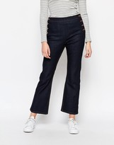 Monki Culottes Jeans With Button Detail