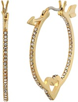 Kate Spade Be Mine Heart and Arrow Hoops