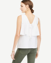 Ann Taylor Bow Back Peplum Top