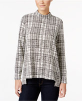 Style&Co. Style & Co. Mock-Neck Jacquard Top, Only at Macy's